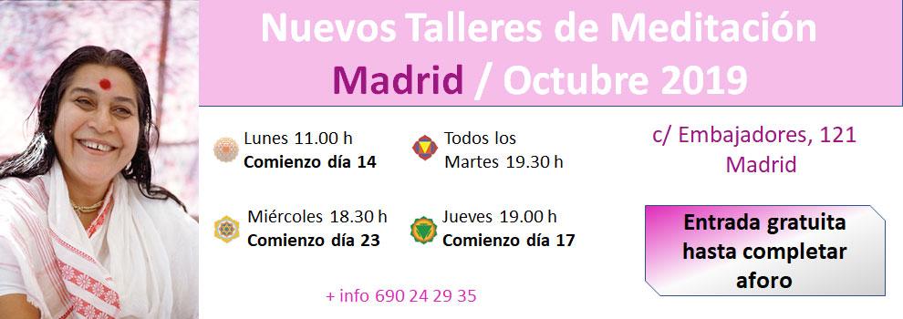 nuevos talleres de Meditación en Madrid - Octubre 2019